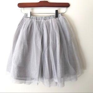 Old Navy Gray Tulle Ballerina Flounce Tutu Skirt